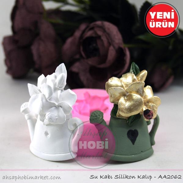 çiçek Sulama Kovası Silikon Kalıbı Aa2062 Ahşap Hobi Market