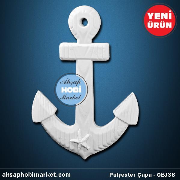 Polyester Büyük Gemi çapa Obje Obj38 Ahşap Hobi Market