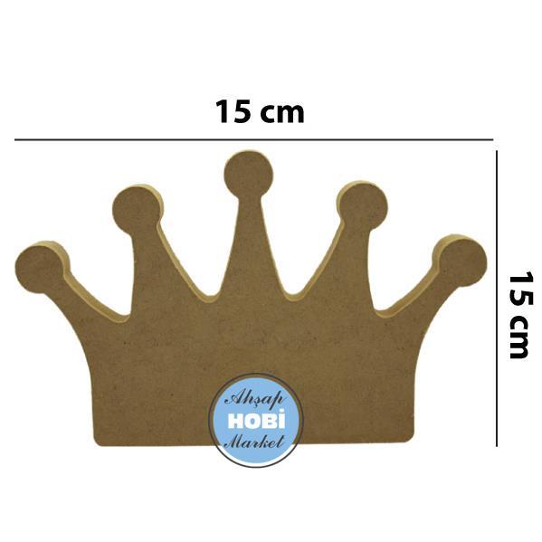 Ahsap Ayakta Duran Kral Kralice Taci 17 X 11cm Ahsap Hobi Market