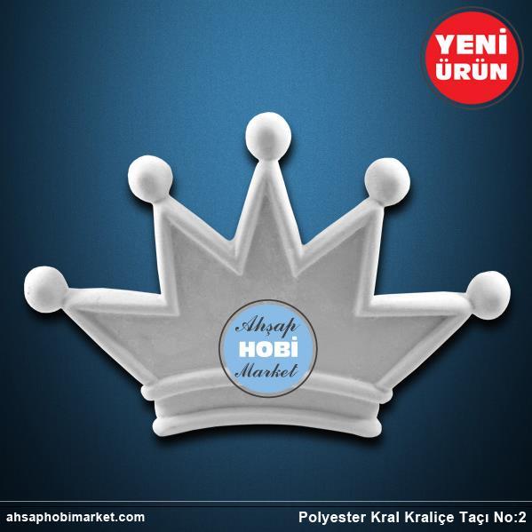 Polyester Kral Kraliçe Tacı No2 Ahşap Hobi Market