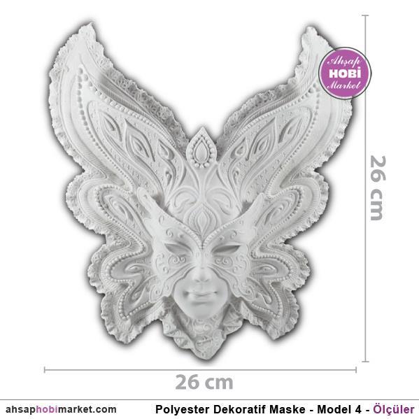 Polyester Dekoratif Maske Pano Model 4 26x26cm Ahsap Hobi
