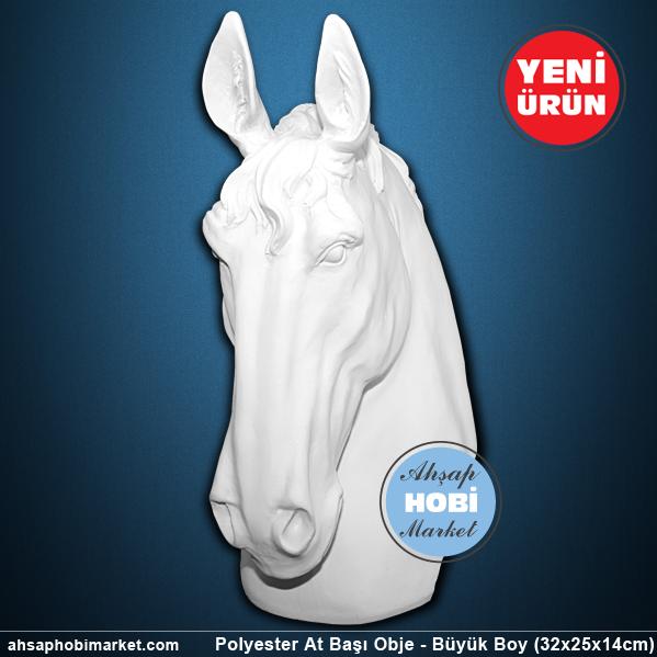 Polyester At Başı Obje Büyük Boy Ahşap Hobi Market