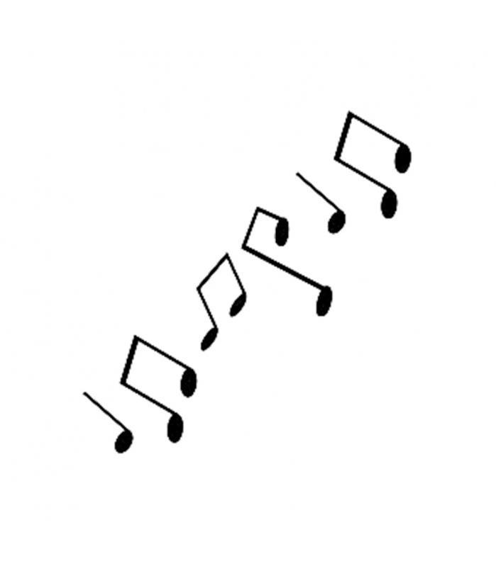 Muzik Notasi Desenli Stencil Sablon 6x22cm K80 Ahsap Hobi Market