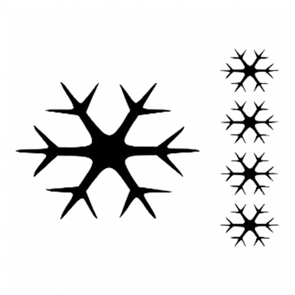 Kar Taneleri Desenli Stencil şablon D249 Ahşap Hobi Market