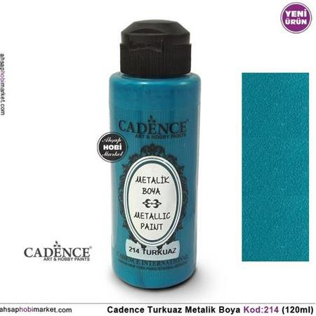 Cadence Metalik Turkuaz Rengi 214 - 120ml
