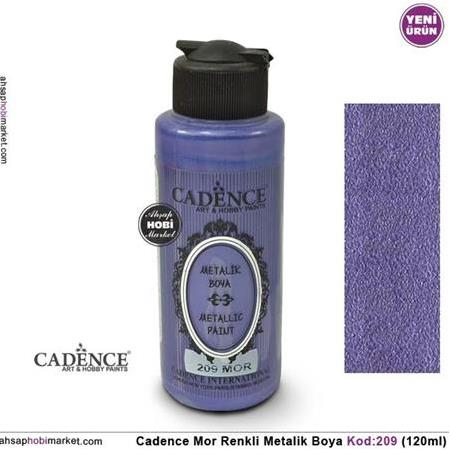 Cadence Metalik Mor Renk 209 - 120ml